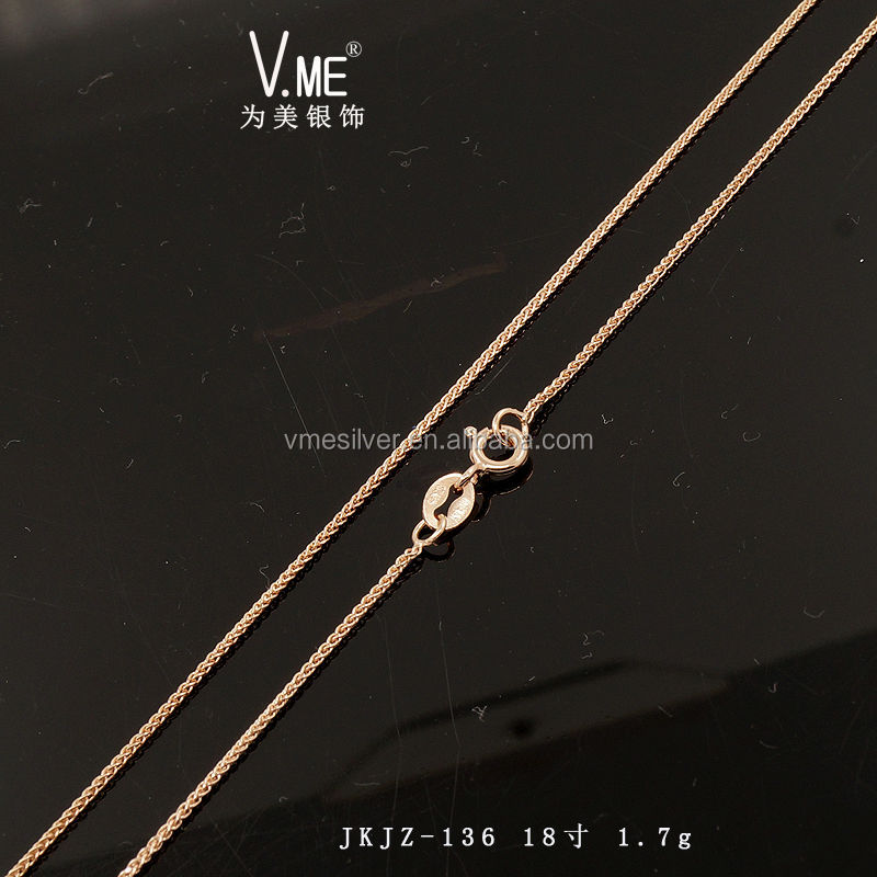 product wheat chain filled gold gf chains rose from womens personalized jewelry spiga wholesale mens necklace