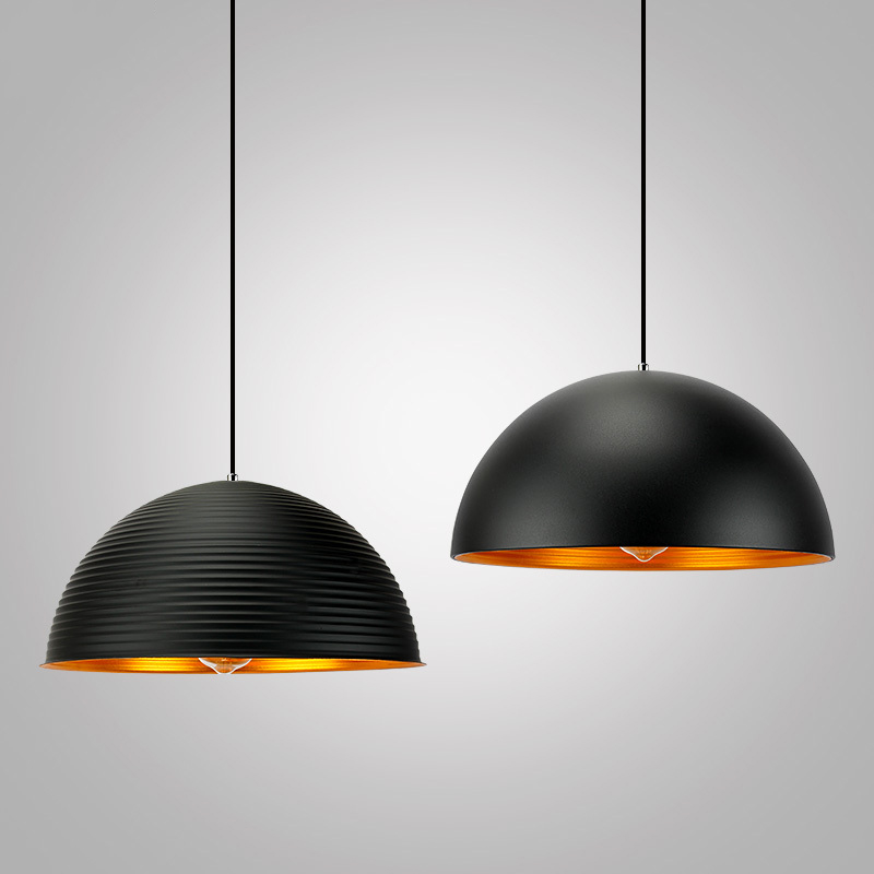 black white aluminum dome Decorative hanging Lamp big pendant light