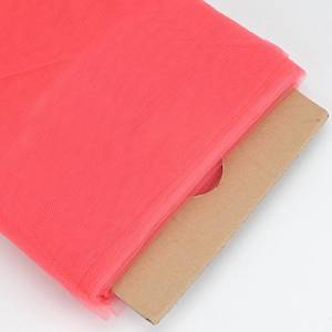 BBCrafts Coral Polyester Tulle Fabric Bolt 54 inch 40 Yards