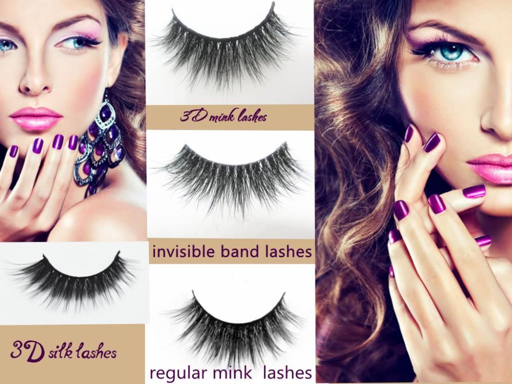 0f57b98569d 100% Real Mink Natural Thick False Fake Eyelashes Makeup Eye Lashes ...
