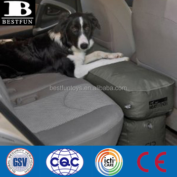 Customized car seat extender inflatable pillow travel portable dog car seat extender inflatable platform