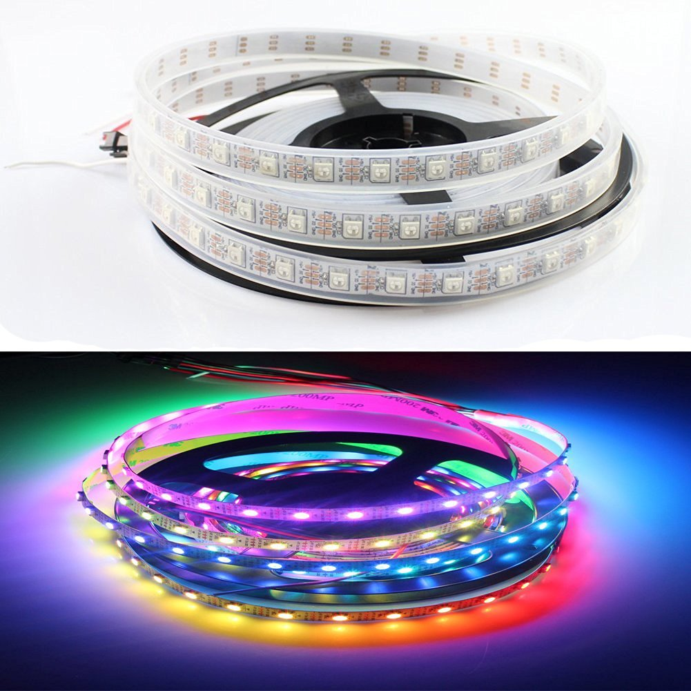 Diffused Digital LED Pixel Strip WS2812 240LEDs DC5v 4M Waterproof LED Strip RGB 5050