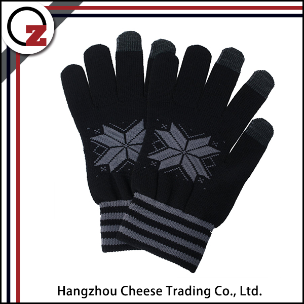 Customized soft smart finger touch screen glove for sale