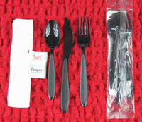 Disposable Plastic Cutlery Kit, Disposable Plastic Cutlery Set, Salt, Pepper Sachet