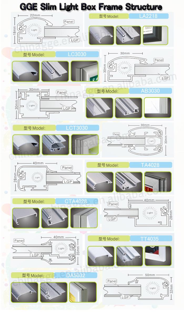 New Advertising Photo Frame Shenzhen Led Slim Snap Poster Frames ...