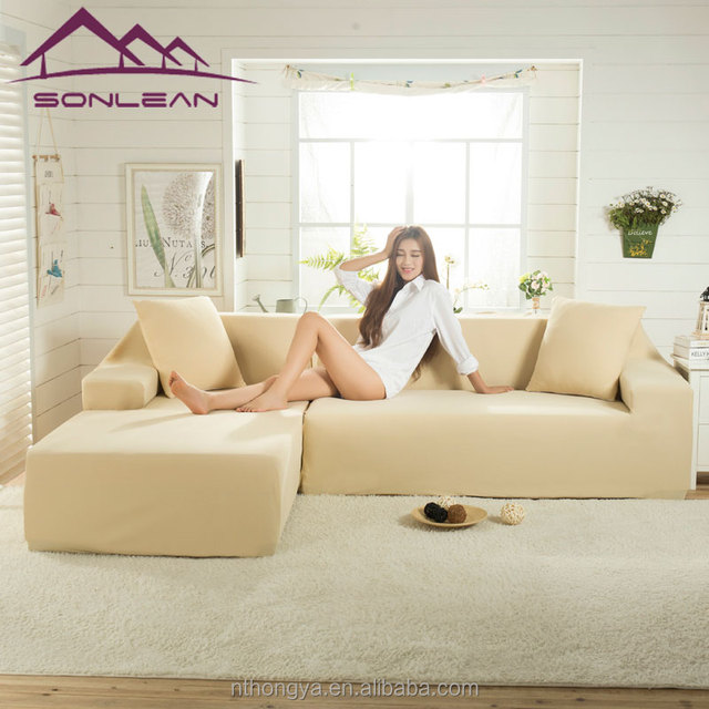 Waterproof Furniture Protector Produce Stretch Style L Shape Sofa Cover  High Quality Slipcover