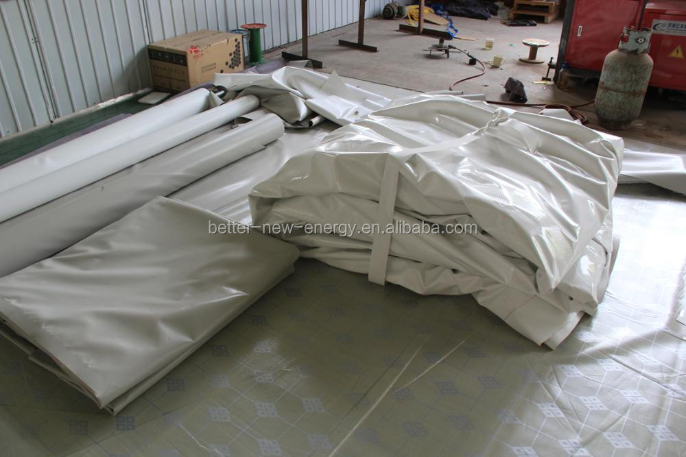 Independent Double membrane bio gas holder biogas methane storage bag /balloon /cabinet for biogas plant