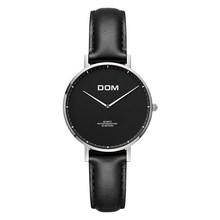 Женские часы DOM, новые роскошные Брендовые повседневные Простые кварцевые часы, кожаные женские часы с ремешком для женщин, Relogi Feminino G-36L-2MS(China)