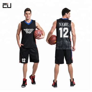 OEM Wholesale Printing Logo Basketball Jersey Design Template for Men