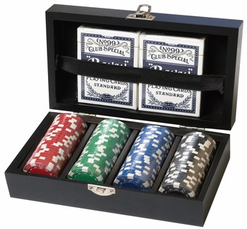 Small box of poker chips dreaming of winning slots