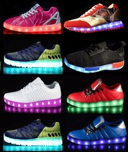 Hot sales LOW MOQ LED footwear light up led jordan basketball shoes