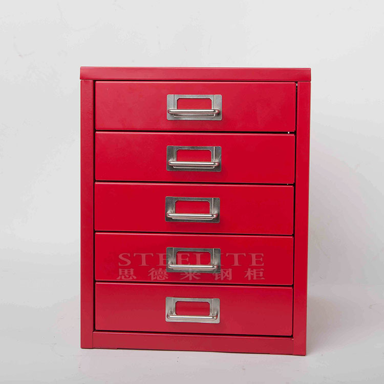 Steel 4 Drawers Vertical Filing Cabinets Mini Drawer Cabinet With Shallow