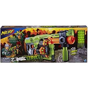 Nerf Zombie Strike Doominator Blaster with Blaster toy has a 3-position handle