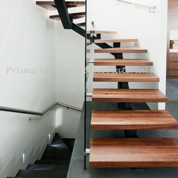 Beau Modern Single Stringer Straight Steel Staircase With Solid Wood Tread   Buy  Straight Staircase,Modern Staircase,Glass Railing Prices Product On  Alibaba.com