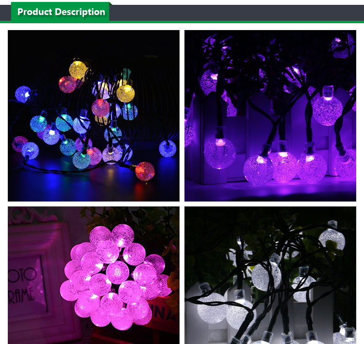 Solar String Light globe,Solar Powered String Fairy Bubble Shaped Lights For Outdoor Party Wedding Garden Christmas party Decor