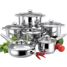 HanFa 12 pcs induksi <span class=keywords><strong>peralatan</strong></span> <span class=keywords><strong>masak</strong></span> stainless steel <span class=keywords><strong>non</strong></span> tongkat pot pan <span class=keywords><strong>set</strong></span>