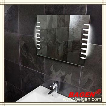 Led Bathroom Mirror With Lights On Edges Modern Bathroom Wall Mirror