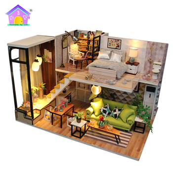 DIY Handmade With Light And Furniture Dollhouse Unusual Home Decor