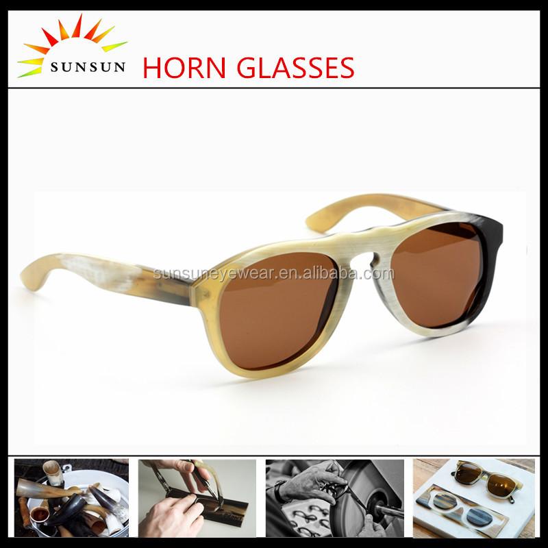 a49c1c508 الاستقطاب عدسة القرن النظارات الفاخرة الجاموس القرن الأبيض الشمس نظارات لل  جنسين