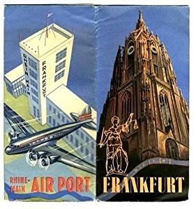 Frankfurt Germany Rhine Main Airport Area Brochure Poster 1950's