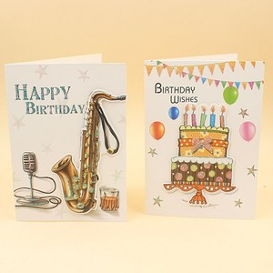 Wholesale cheap new design paper birthday cards voice recording card happy  birthday musicgreeting card with sound chip