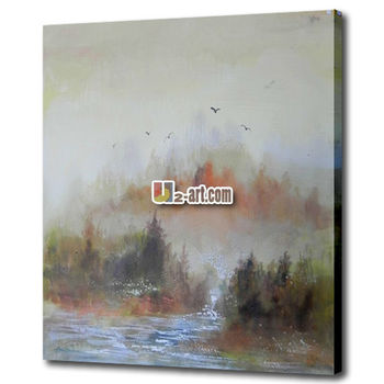Framed Canvas Easy Landscape Painting