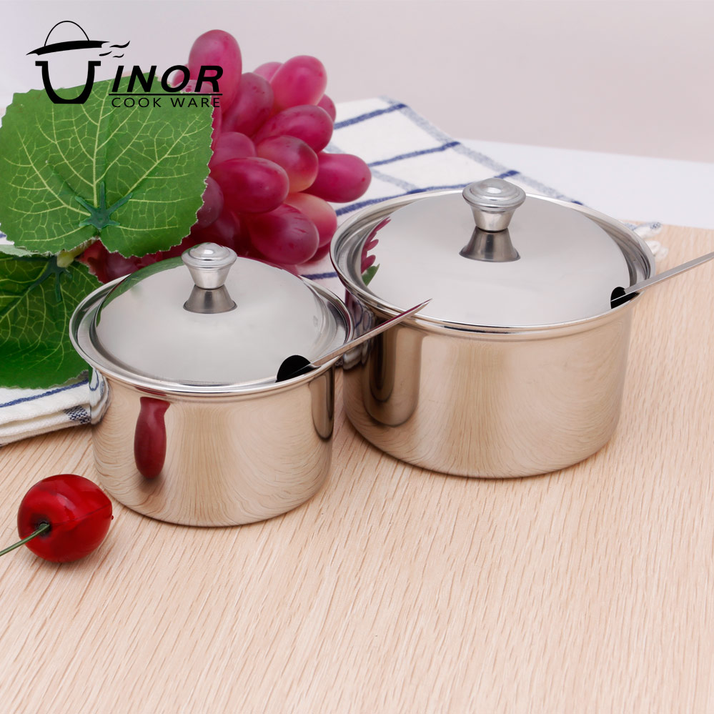 china factory spice jar cruet set stainless steel sugar bowl with spoon