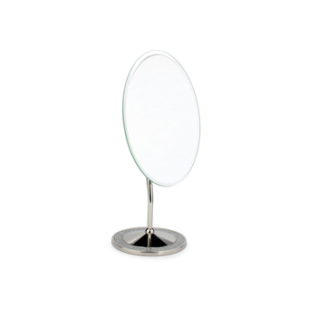 Attractive Diamond Mirror Metal Oval Shape Table Mirror Stand