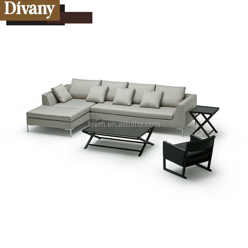Half Moon Leather Sectional