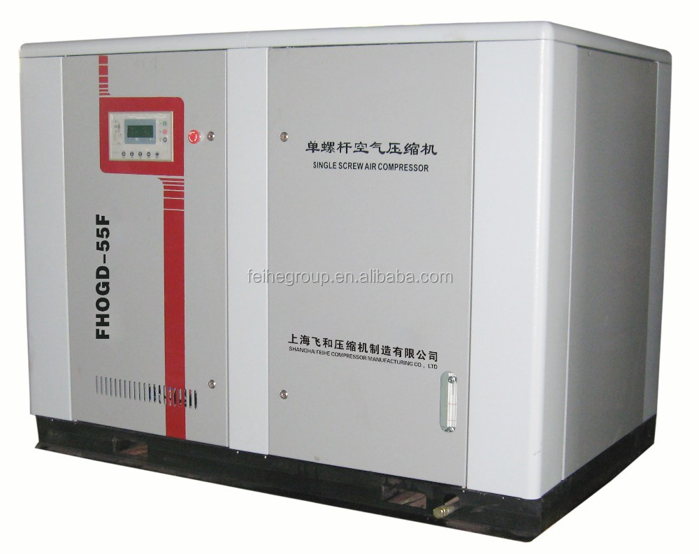 From China FEIHE stationary electrical driven rotary screw air compressor IR/Altas Copco for industry