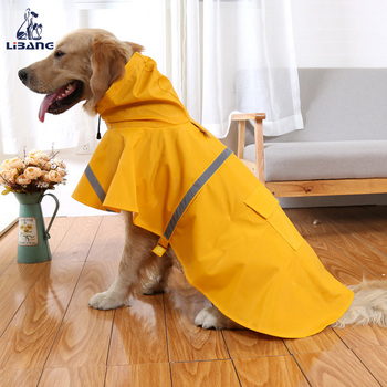 Popular Design Reflective Stripes Waterproof Pet Dog Rain Coat