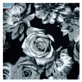 Textiles tissus thick satin stretched rose cotton floral lycra printed fabric