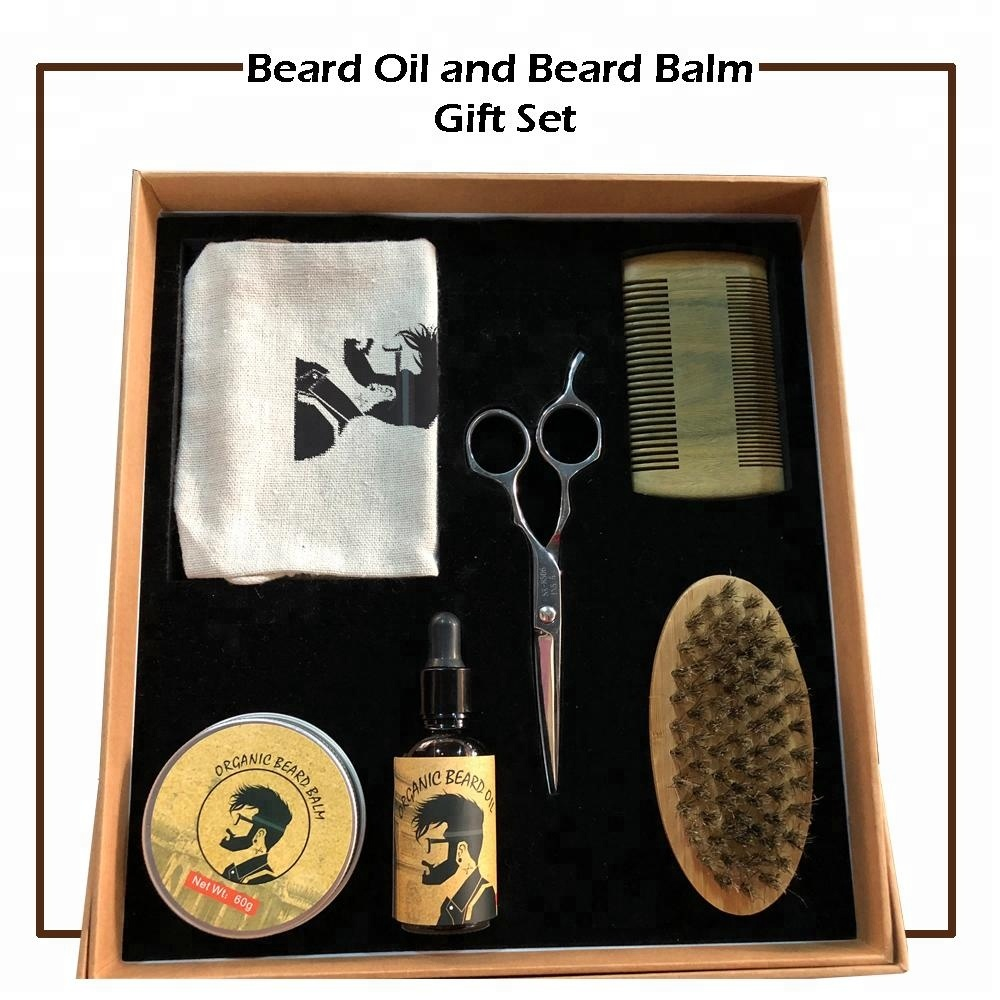 OEM Private Label Beard Oil Beard grooming Kit for Men Mustache Care with Sandalwood Comb, N/a