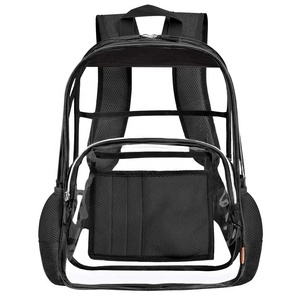 3a2a97f1f0ae LOKASS 15.6 inches Heavy Duty Clear Backpack for School Stadium Approved Transparent  Bookbag See Through Child