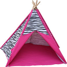 TP46 Zhejiang Tulip 100% cotton canvas fabric wholesale indoor kids play teepee tents for sale