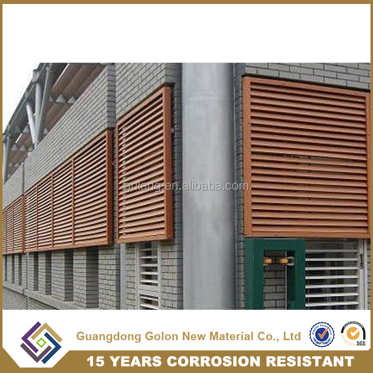 Waterproof anti corosion Shutters Type and Horizontal Opening Pattern bathroom louver window