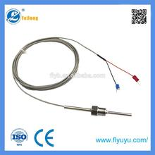 Multifunctional China thermocouple type k screw thread /none/flange PTFE/Teflon/SS braid wire