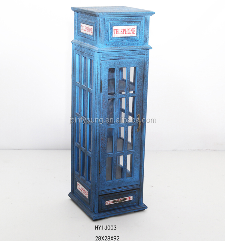 Shabby Chic Antique Phone Booth Design Conner Cabinet
