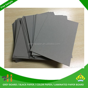 Smooth surface grey flat paper board 2mm paper thickness gsm