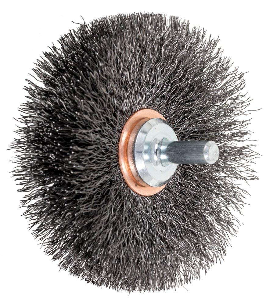 1 Diameter.008 Wire Diameter 15,000 RPM Pack of 10 PFERD 83016 Stem Mounted End Bridled Crimped Wire Brush Carbon Steel Wire
