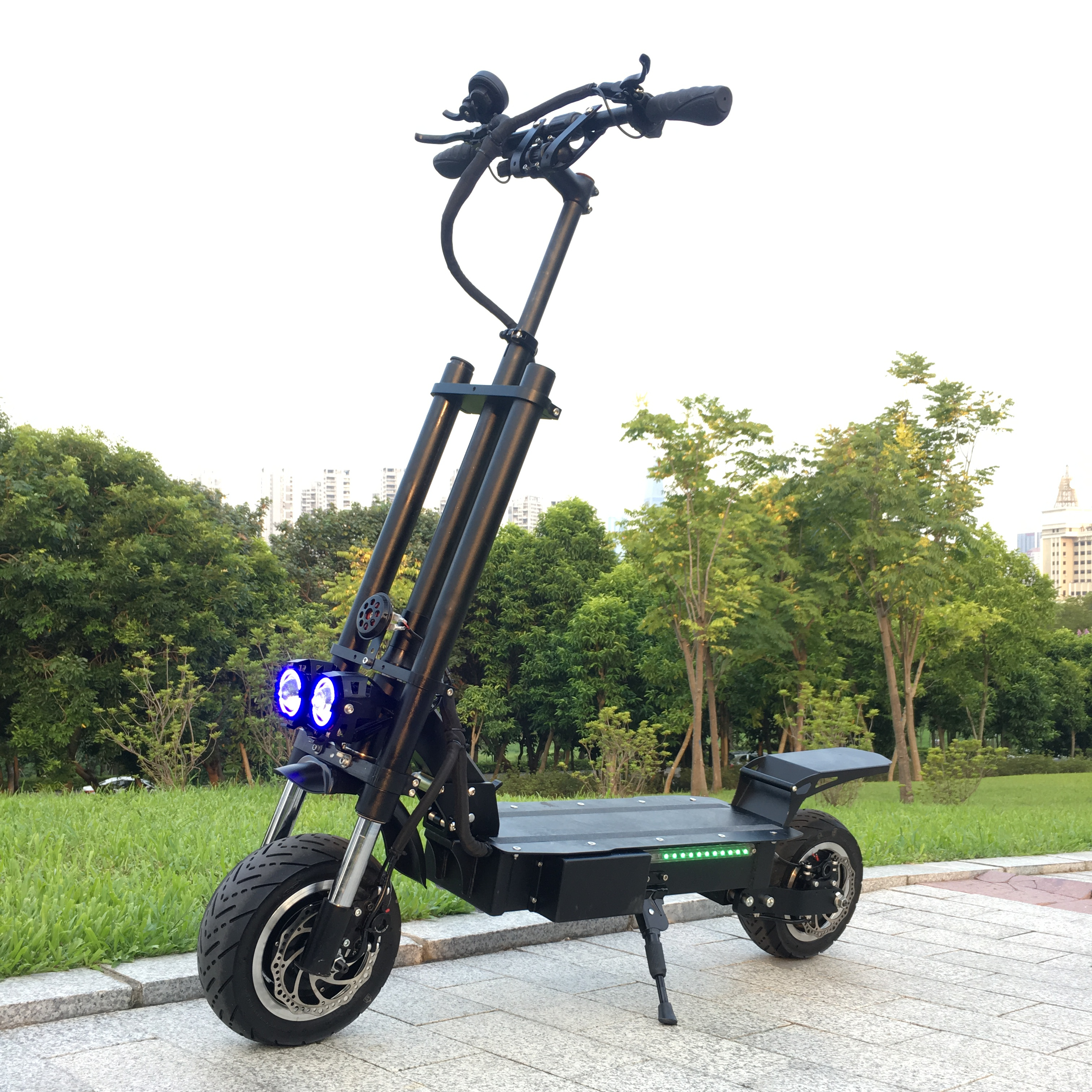 Amazon best hot seller 5600W great powerful 2 wheel electric scooter with seat electric double seat mobility scooter China, Black