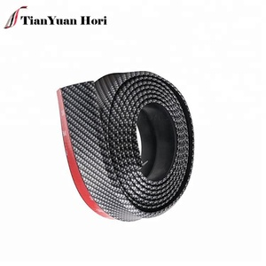 Wholesale Carbon Fiber Side Skirt Chin Spoiler Protector 2.5m Car Bumper Front Universal Splitter Samurai Rubber Lip