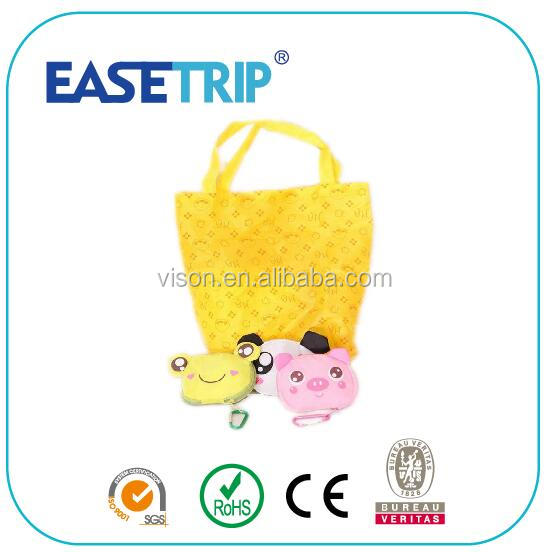 Cartoon Animal Foldable Dacron Waterproof Shopping Bag