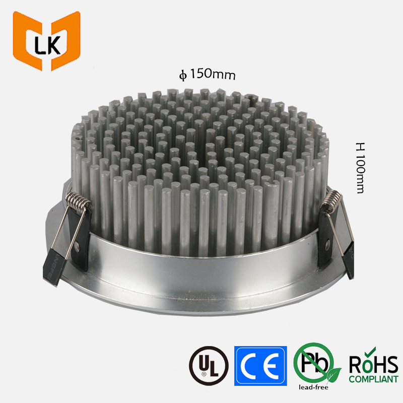 Cheap Price 140mm Round Pin Fin Heatsink With Aluminum 1070