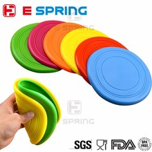 Reasonable Price 18*18cm Silicon Pet Toys Recycled Frisbee