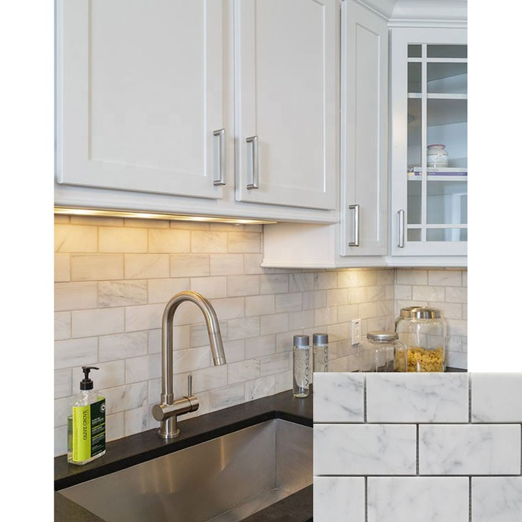 China Natural White Marble Wall Mosaic Kitchen Backsplash Tiles - Buy  Mosaic Kitchen Backsplash Tile,Kitchen Backsplash Tile,Mosaic Backsplash  Tiles ...