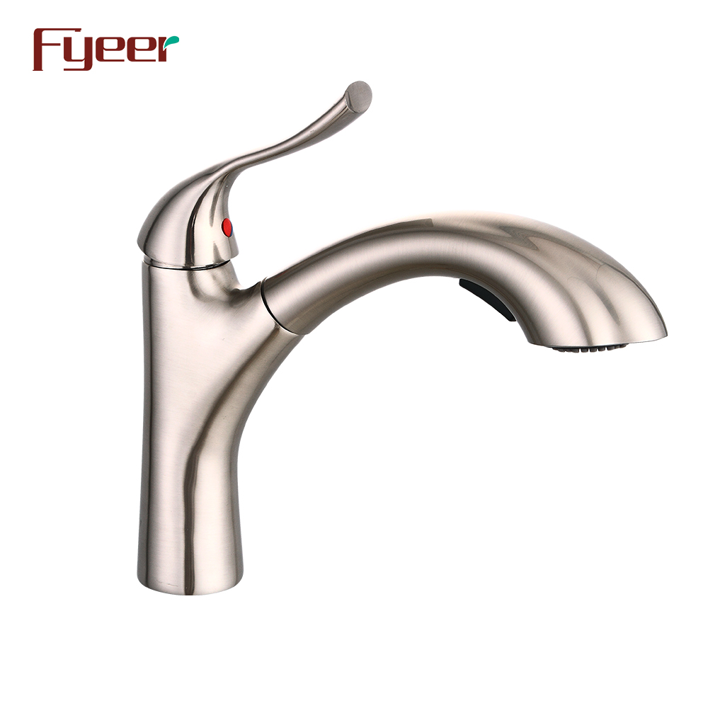 Fyeer Brushed Nickle Brass Pull Out Kitchen Grohe Faucet - Buy Kithen  Faucet,Kitchen Grohe Faucet,Pull Out Kitchen Faucet Product on Alibaba.com