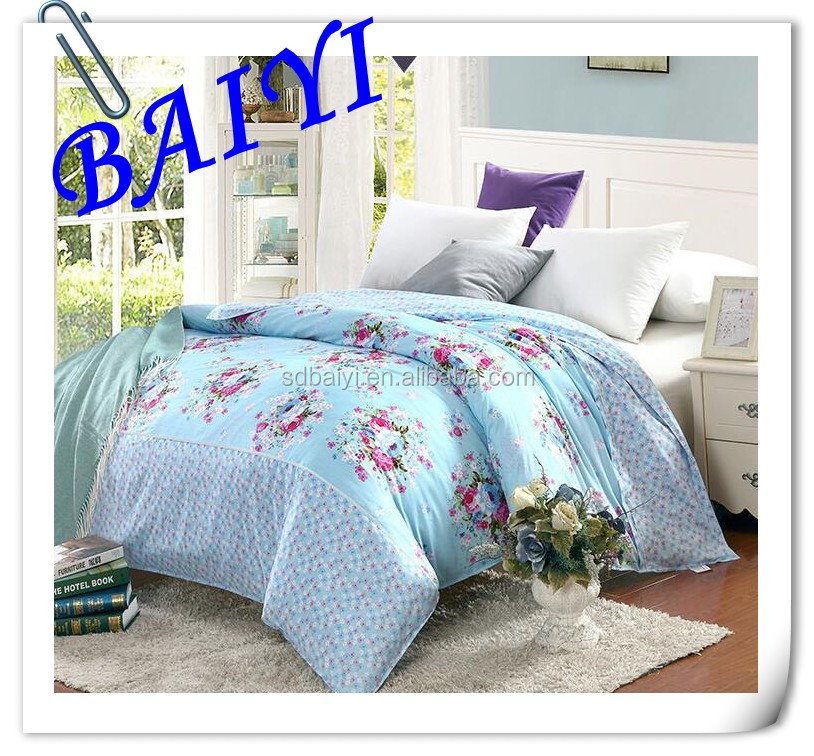 100% polyester high quality and inexpensive printed bedsheet fabric