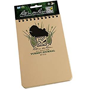 "Rite in the Rain All-Weather Top-Spiral Notebook, 4"" x 6"", Tan Cover, Turkey Hunting Journal (No. 1713)"
