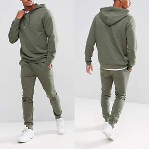 jogging suits wholesale pullover hoodies and skinny jogger sports tracksuit in green